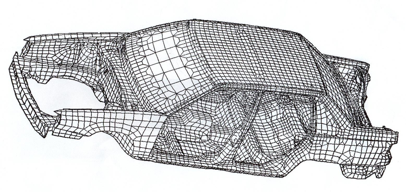 Structure for Finite elemente modell